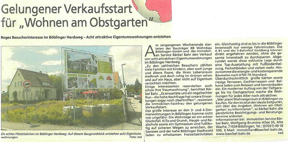 KRZ-Verkaufsstart-Herdweg